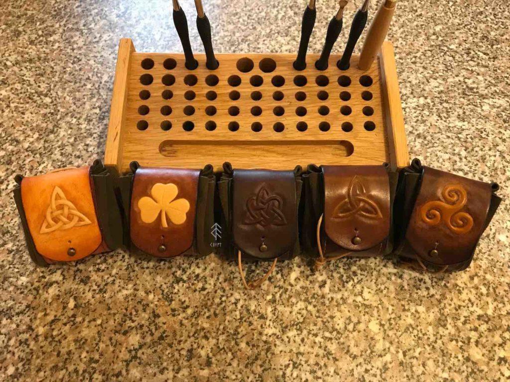 bourses cuir celtiques