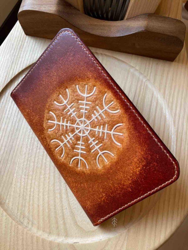 porte-cartes cuir aegishjalmur