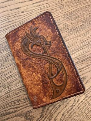 porte-cartes dragon cuir
