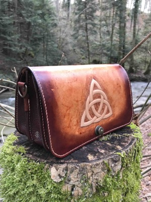 sac celtique cuir