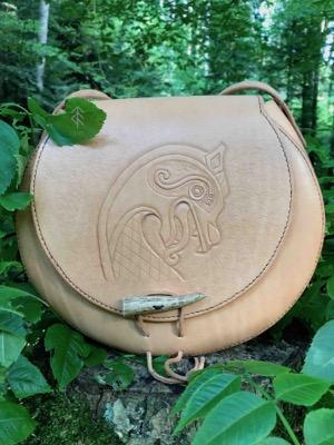 sac rond dragon cuir