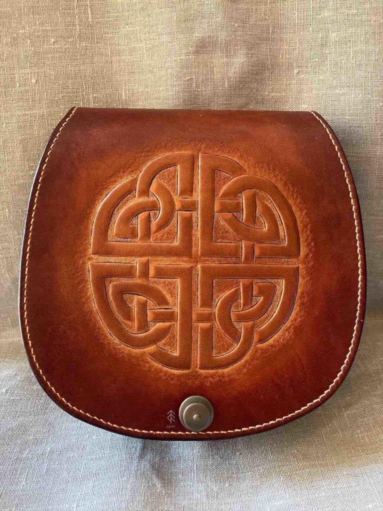 sacoche cuir celtique