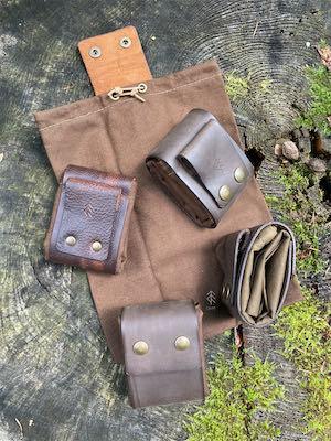 sachets de cueillette cuir dry oilskin